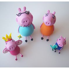 Cake Model/ Topper – Princess Peppa Pig And Family Models cakepins.com