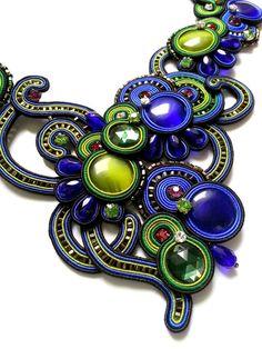 soutache necklace mishtiart blogspot com follow me