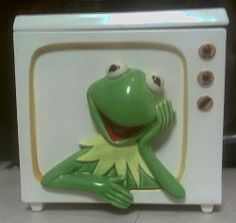 SIGMA MUPPET / KERMIT TV COOKIE JAR. CANISTER   AMAZING