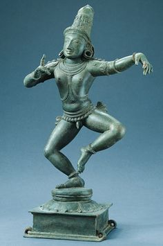 Saint #Sambandar  #India, Tamil Nadu; Chola period (880-1279), 12th century  Sambandar, who lived in the 7th century, is one of a group of sixty-three #Hindu saints who dedicated their lives to the worship of Shiva. He can be identified by his youthful appearance (he lived only eighteen years), by his joyful dancing pose (which refers to his emphasis on song and dance in the worship of #Shiva), and by the pointing finger of his right hand.