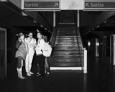 Underground - street photography - Parisian subway - infrared flash - Pierre-Louis Ferrer