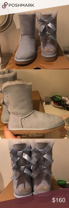 Ugg bailey boot  rare blue color I love these boots . I wore them only two times I just feel like the would have a better place with someone who would use them more than myself feel free to make offers 😊 UGG Shoes