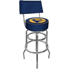 Trademark Games Indiana Pacers Padded Swivel Bar Stool with Back, Team