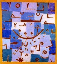"""Paul Klee a peint entre 1930 et 1940 des tableaux inspirés par son voyage en Egypte dans lesquels on peut voir des """"signes"""" proches des hieroglyphes. Nous avons observé certains de ces tableaux en particulier La légende du Nil: Séance 1: Atelier de langage..."""