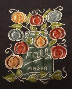 Crossstitch, Embroidery, Fall, Handmade, Autumn, Cross Stitch, Punto De Cruz, Needlepoint, Hand Made