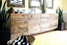 Aus modern wird rustikal – IKEA Wandschrank pimpen