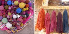 PERU: TRADIÇÃO EM TINGIMENTO NATURAL                                                                                                                                                                                 Mais Tinta Natural, Tassel Necklace, Peru, Fabric, Decor, Natural Colors, Dyes, Diy, Tejidos