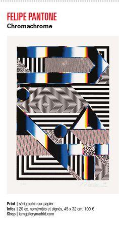 "Felipe Pantone y su ""Chromachrome"" en el especial ""The Urban Contemporary Art Guide 2014"" de Graffiti Art magazine.  http://www.graffitiartmagazine.com/  Te puedes con una de las pocas copias que nos quedan aquí: http://iamgallerymadrid.com/portfolio-item/felipe-pantone/"
