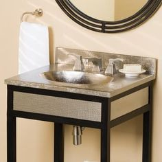 Native Trails 24 Inch Sedona Vanity Top, Nickle Basin VNT245. h1Native Trails 24 Inch Sedona Vanity Top, Nickle Basin VNT245_h1The Native Trails Sedona Vanity Top VNT245 with integral brushed nickel oval basin is crafted from recycled copper and hand hammered into functional art. Pa.. . See More Vanity Tops at http://www.ourgreatshop.com/Vanity-Tops-C1112.aspx