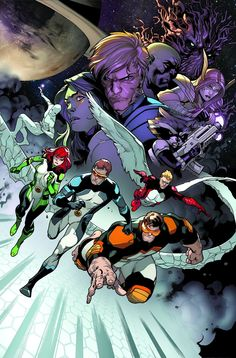 """All-New X-Men 22 """"The Trial of Jean Grey"""" by Stuart Immonen."""