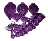 Purple measuring cups