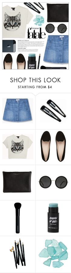 """""""meow"""" by oubliettte ❤ liked on Polyvore featuring MANGO, Clips, Forever 21, Carven, The Row, Givenchy, Bobbi Brown Cosmetics and KAROLINA"""