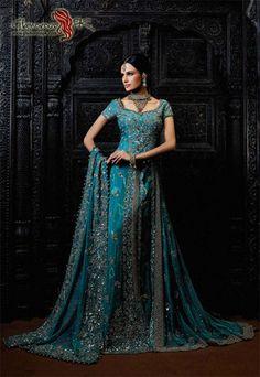 Pakistani bridal dress. the color is stunning