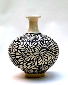 ceramic ◕ black and white glaze leaving white unfinished at modernpotterys