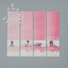 Lucile watercolour scrapbook layout