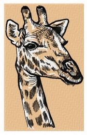 Giraffe 2 machine embroidery design. Machine embroidery design. www.embroideres.com