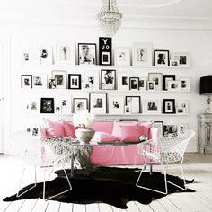 wohnzimmer wandregal holz weiß sofa couchtisch | wohnzimmer ... - Wohnzimmer Schwarz Weis Pink