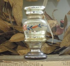Vintage Mercury Glass Small Vase / Candle by AloofNewfWhimsy
