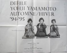 Invitation Yohji Yamamoto Fall 94/95