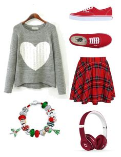 """""""""""Dear Santa"""" SNSD"""" by bad-blackjack ❤ liked on Polyvore featuring Vans, Bling Jewelry and Beats by Dr. Dre"""