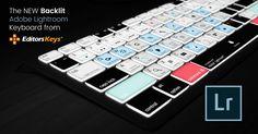The Adobe Lightroom Backlit Keyboard from Editors Keys
