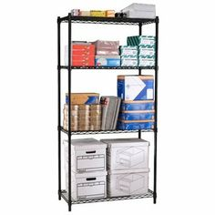 BEF1496606 - Best Black 4 shelf unit 36x24 S367224BLK by Best. $93.04. Wire storage rack with 4 adjustable shelves. Black powder coated finish protects from scratches and can support up to 300lbs per shelf. Ideal for office /school supply storage or for home office storage needs. Includes 4 flat hooks for linking multiple units if desired. Overall dimensions 72Hx36Wx24D. Casters available as an option to create a mobile unit