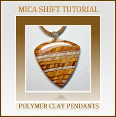 Polymer Clay Tutorial Mica Shift Pendants Instant Download PDF Lesson by BeadazzleMe
