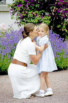 CP Victoria of Sweden and Princess Estelle. July 14 2016