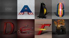 Já imaginou um alfabeto INTEIRO baseado nos super-heróis?