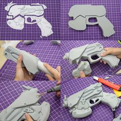 Cosplay Ideas d-va_gun_eva_foam_kamui_cosplay - Tutorials, books, videos and other interesting insights into the cosplay community by Kamui Cosplay. Fallout Cosplay, Cosplay Weapons, Cosplay Armor, D Va Cosplay, Cosplay Outfits, Anime Cosplay, Overwatch, Eva Foam Armor, Eva Schaum