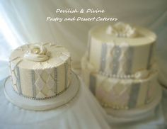 """For a """"Diamonds""""-themed bridal shower; would be gorgeous as a wedding cake as well"""