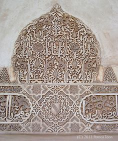 "'""There is no greater sorrow than to be blind in Granada"" Arab Proverb Islamic Art - Alhambra, Spain Islamic Architecture, Beautiful Architecture, Art And Architecture, Architecture Details, Arabesque, Motif Oriental, Moroccan Art, Moroccan Style, Islamic Patterns"
