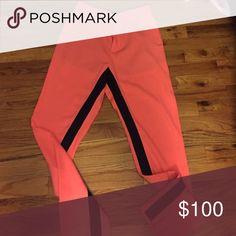 Trousers Peach black side open ceremony pants Opening Ceremony Pants Trousers