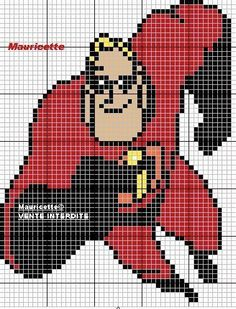 The Incredibles hama perler beads pattern