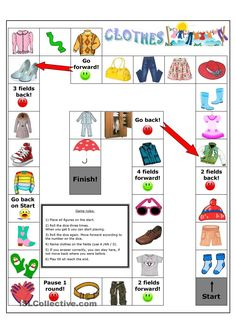 Clothes board game worksheet - Free ESL printable worksheets made by teachers
