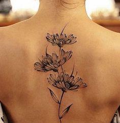 nice Back Tattoos Design for Women