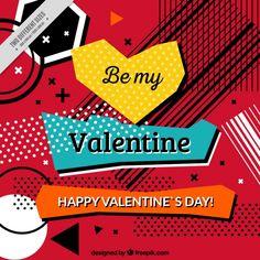抽象的な現代のバレンタインの背景 無料ベクター