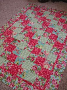 Simple pattern: florals mixed with gingham- love the fabrics, not big on pattern