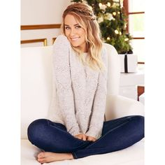 LC Lauren Conrad Snow Globe Look 2 - Steel Gray or Arctic color - with the hearts on the sweater