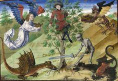 Saint Augustine, 'La Cité de Dieu' (French translation of 'De Civitate Dei'), France ca. 1450 Strasbourg, Bibliothèque nationale et universitaire, ms. 523, fol. 54r