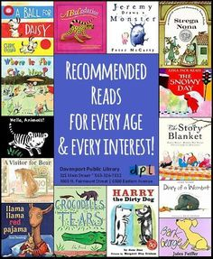 These librarians have made recommended book lists for kids of every age and skill level: get the right book to make reading fun for your kids or students! (Davenport Library)