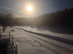Magic winter sun! Winter Sun, Snow, Magic, Celestial, Sunset, Outdoor, Outdoors, Sunsets, Outdoor Games