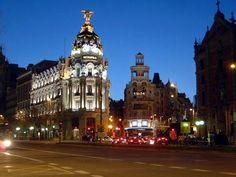 Gran vía, Madrid, Enero de 2012