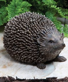 Spikey Hedgehog Statue by Kelkay #zulily #zulilyfinds