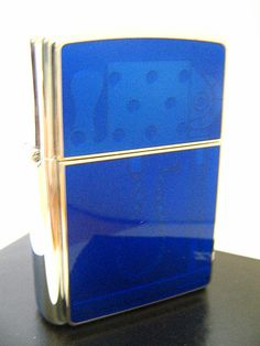 Blue Lighter Works Zippo Lighter