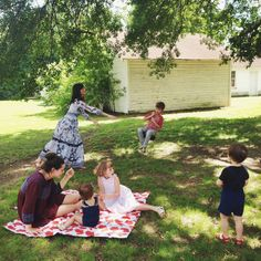 Summer time in Arkansas. Picnic blanket via the adorable British brand, Anorak.