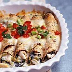 Creamy Chicken Enchiladas Heart friendly