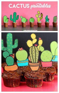 Cactus printables - A girl and a glue gun