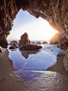El Matador State beach in Malibu, California - One of the most beautiful beaches in Malibu, with sea caves and large rocks on the beach.