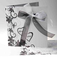 Faire Part Mariage Original Nœud Papillons Romantique Faire Part Mariage  Noir Et Blanc, Faire Part